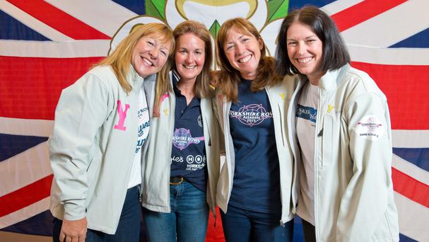 Janette Benaddi, Helen Butters, Niki Doeg and Frances Davies became record breakers when they rowed across the Atlantic (Welcome to Yorkshire/PA)