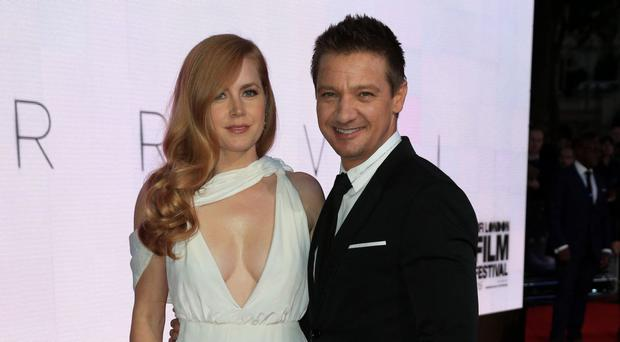 Amy Adams and Jeremy Renner attending the screening of Arrival at the Odeon Leicester Square, London