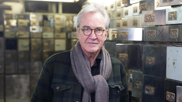 Larry Lamb at the Hatton Garden Safe Deposit in London