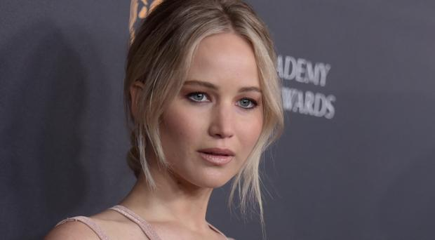 Jennifer Lawrence arrives at the Bafta Los Angeles Britannia Awards in Beverly Hills, California (Richard Shotwell/Invision/AP)