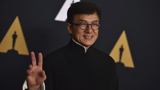 Jackie Chan arrives at the 2016 Governors Awards (AP)
