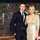 Eddie Redmayne and JK Rowling attending the Fantastic Beasts And Where To Find Them European Premiere at Leicester Square, London