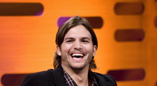 Ashton Kutcher approached the protester