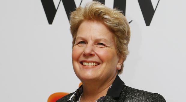 Sandi Toksvig arrives at the Awards in central London