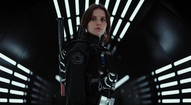 An image taken from the Star Wars YouTube channel from the trailer for the new Rogue One film, starring Felicity Jones