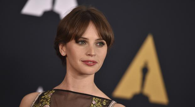 Felicity Jones, who stars in Rogue One, at the 2016 Governors Awards.