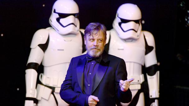Mark Hamill attending the Star Wars: The Force Awakens premiere in London's Leicester Square