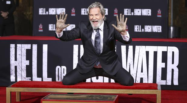 Jeff Bridges attends the ceremony honouring him in Los Angeles (AP)
