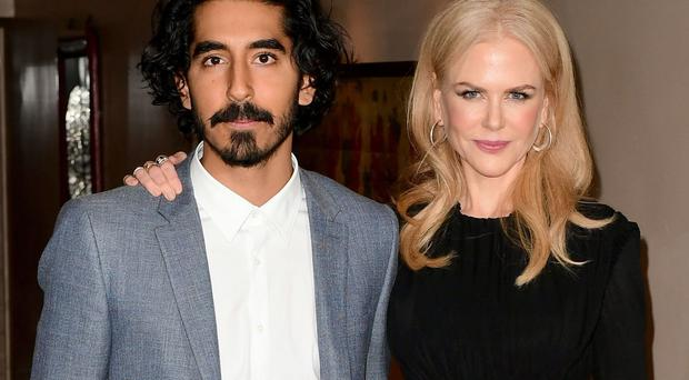 Nicole Kidman, right, with Lion co-star Dev Patel