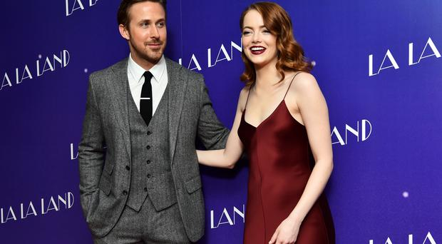 Ryan Gosling and Emma Stone attended a gala screening for La La Land