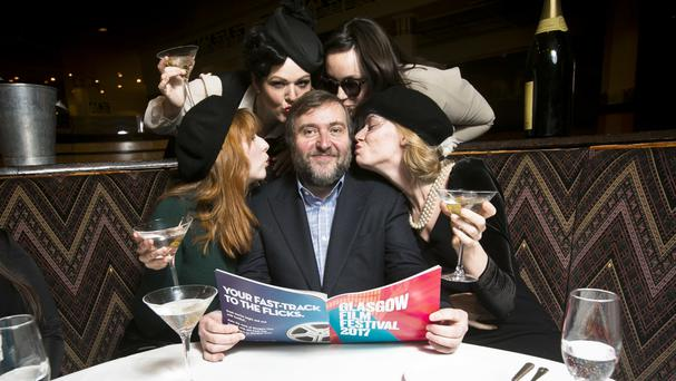 Glasgow Film Festival co-director Allan Hunter at the launch of this year's programme (Glasgow Film Festival/PA Wire)