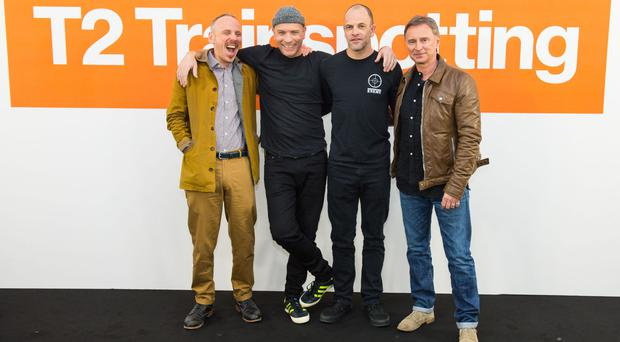 Ewen Bremner, Ewan McGregor, Jonny Lee Miller and Robert Carlyle, reunited for T2 Trainspotting