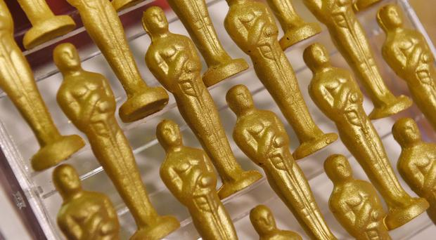 Chocolate Oscar statuettes at the 89th Academy Awards Governors Ball Press Preview (Chris Pizzello/Invision/AP)