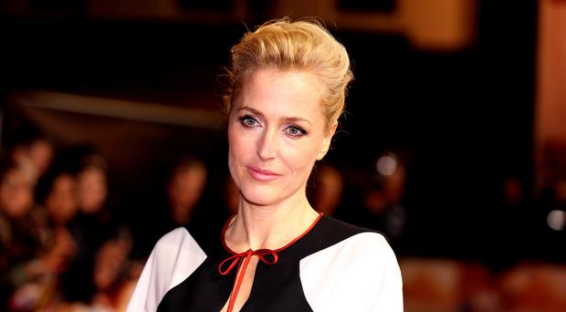 Gillian Anderson attends Viceroy's House UK premiere