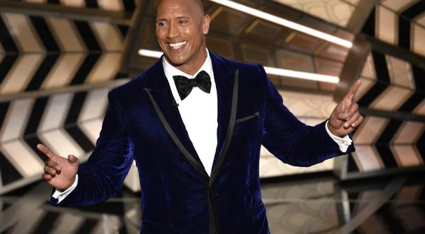 Dwayne Johnson introduces a performance from best original song nominee