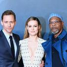 Tom Hiddleston, Brie Larson and Samuel L. Jackson attending the Kong: Skull Island Euorpean Premiere at Cineworld Leicester Square, London.