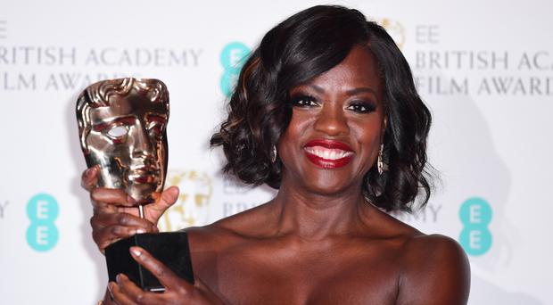 Viola Davis with a Bafta