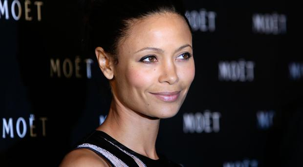 Thandie Newton arriving for the Moet & Chandon Tribute to Cinema Event, held at Big Sky Studios in north London.