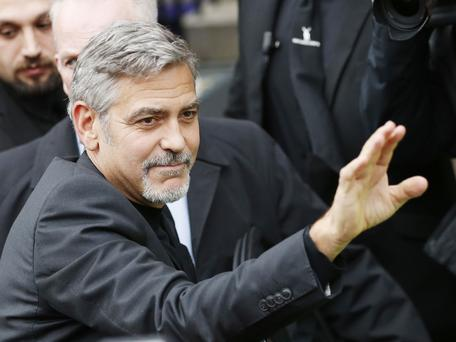 George Clooney surprises fan at nursing home
