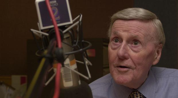 """File photo dated 09/12/2002 of Jimmy Young as the veteran broadcaster has died """"peacefully at home"""" on Monday aged 95, his spokesman has confirmed."""