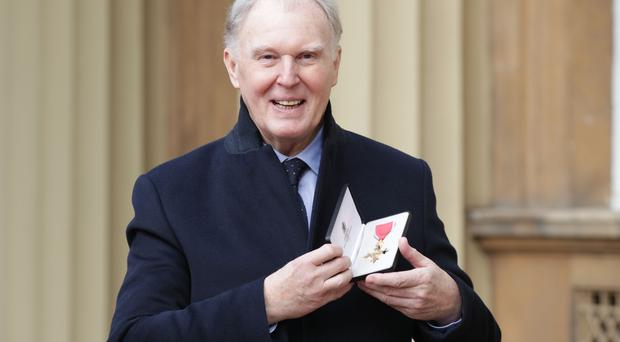 File photo dated 02/03/2017 of Tim Pigott-Smith at Buckingham Palace in London after receiving his OBE, the actor has died at the age of 70, his agent John Grant has said.