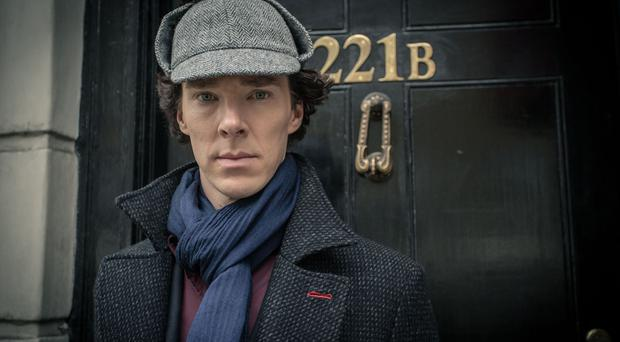 "For use in UK, Ireland or Benelux countries only Undated handout file photo issued by the BBC of Sherlock Holmes played by Benedict Cumberbatch, who has said he is honoured the ""sociopath"" detective has been named the world's favourite BBC TV character."