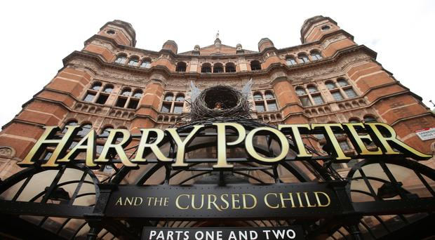 File photo dated 30/07/16 of the sign for the theatre show of Harry Potter and The Cursed Child, at the Palace Theatre in London which has become the most nominated new play in Olivier history.