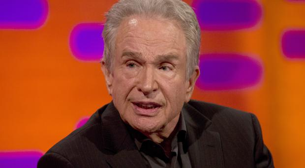 Warren Beatty during the filming of the Graham Norton Show at The London Studios, to be aired on BBC One on Friday.