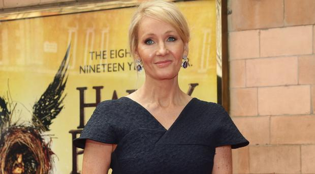JK Rowling arriving for the opening gala performance of Harry Potter And The Cursed Child, at the Palace Theatre in London (Yui Mok/PA)
