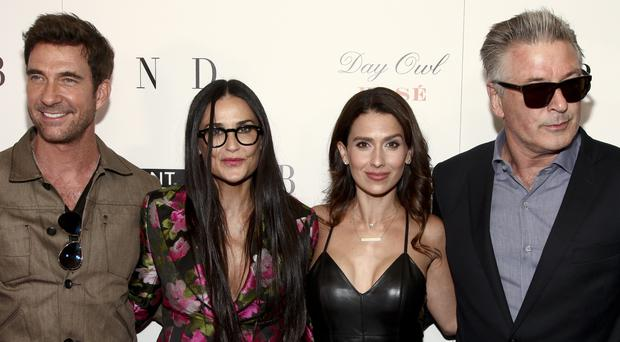 Dylan McDermott, Demi Moore, Hilaria Baldwin and Alec Baldwin at a premiere for Blind (Andy Kropa/AP)