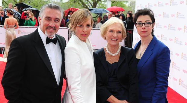 Paul Hollywood, Mel Giedroyc, Mary Berry and Sue Perkins (Ian West/PA)