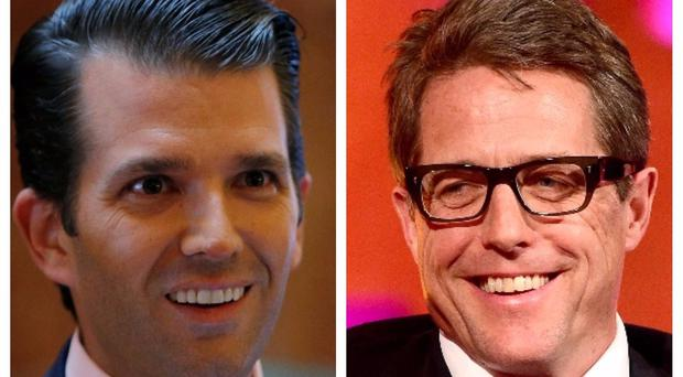 Donald Trump Jr has been criticised by Hugh Grant (AP/PA)
