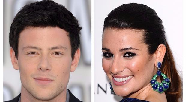 Cory Monteith and Lea Michele (PA)