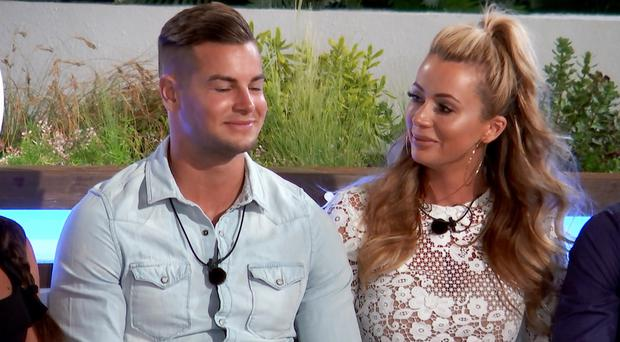 Chris Hughes and Olivia Attwood (ITV)