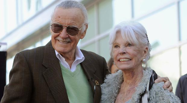 "Stan Lee thanked his ""wonderful wife"" Joan at the ceremony less than a fortnight after her death (Chris Pizzello/AP)"
