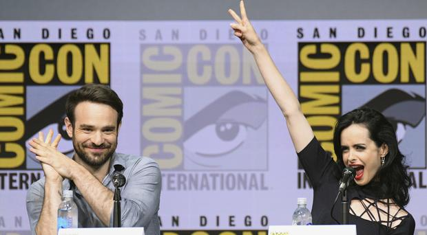 Charlie Cox and Krysten Ritter star in The Defenders (Powers Imagery/AP)