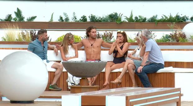 Nerves for Love Island couples as family members enter villa before dumping (ITV)