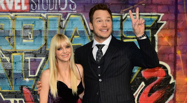 Chris Pratt – Anna Faris split (Ian West/PA)