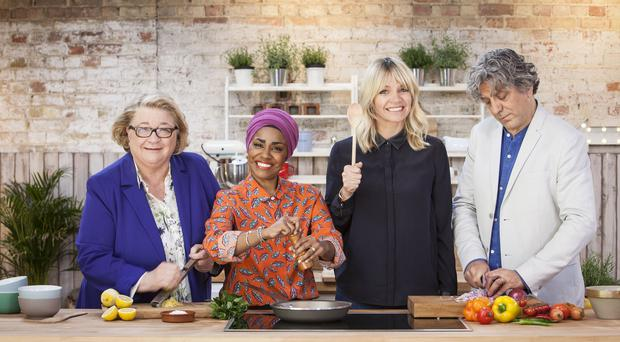 The Big Family Cooking Showdown presenters and judges (BBC/Voltage TV Productions)