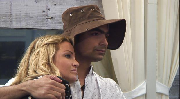 Sarah Harding and Karthik Nagesan are up for eviction again (Channel 5/PA)
