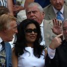 Bruce Forsyth (left), his wife Wilnelia and Jimmy Tarbuck (right) during Day Three of the 2010 Wimbledon Championships at the All England Lawn Tennis Club, Wimbledon (PA)