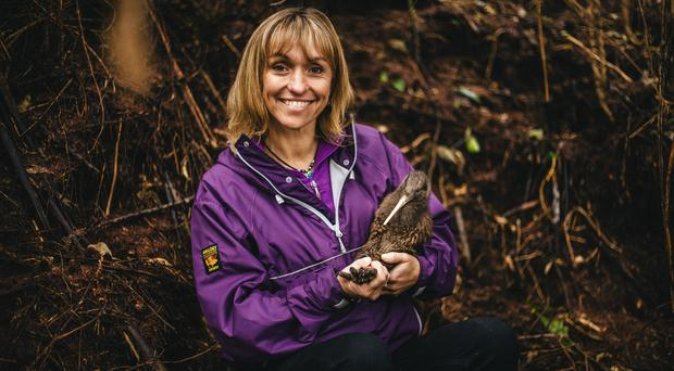 Michaela Strachan with a kiwi (Old Mout Cider)