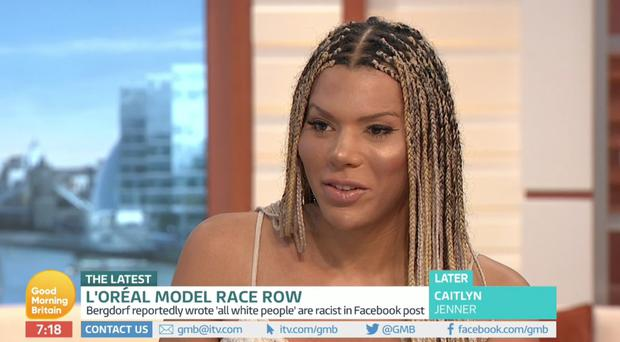 Model Munroe Bergdorf had a war of words with Piers Morgan (ITV)