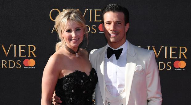 Carley Stenson and Danny Mac attending the Olivier Awards (Chris J Ratclife/PA)