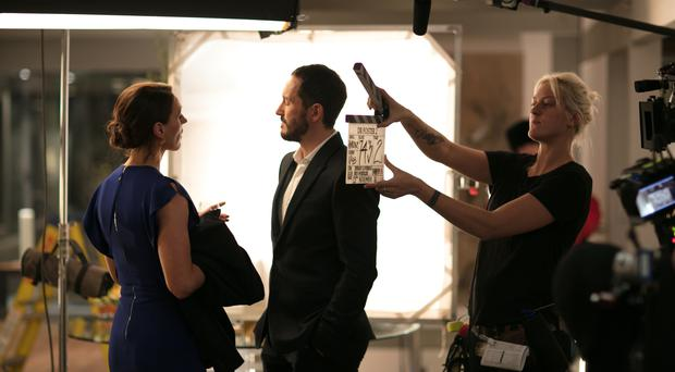 A behind the scenes picture from the second series of Doctor Foster (BBC/Drama Republic/Laurence Cendrowicz)