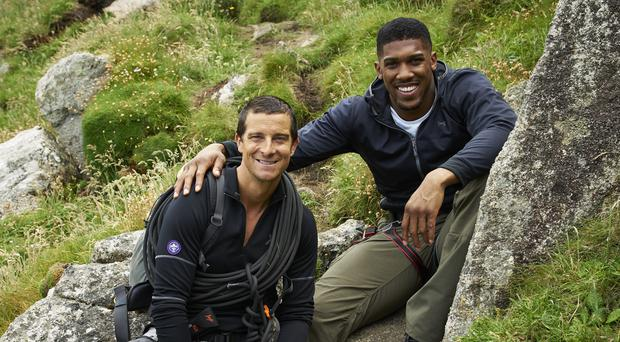 Bear Grylls and Anthony Joshua