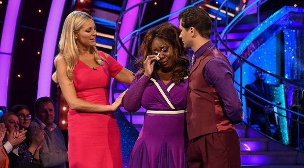 Chizzy was the first celebrity to be sent home from Strictly (BBC)