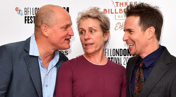 Woody Harrelson, Frances McDormand and Sam Rockwell