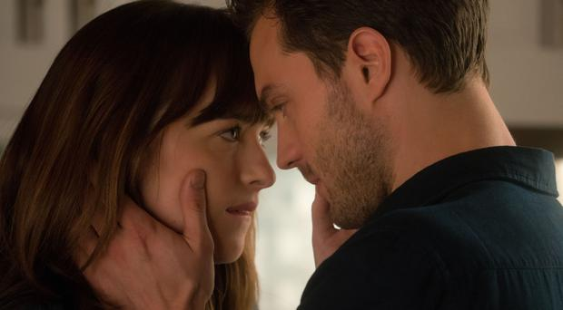 Jamie Dornan and Dakota Johnson in Fifty Shades Freed