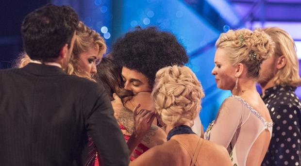 Janette and Aston say farewell on Sunday night's Strictly Come Dancing (BBC)